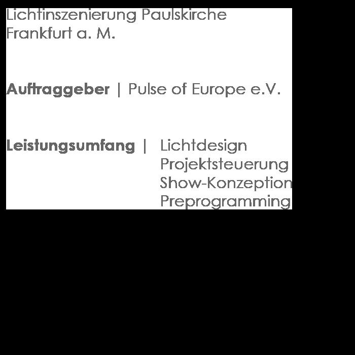 Lichtinszenierung der Frankfurter Paulskirche